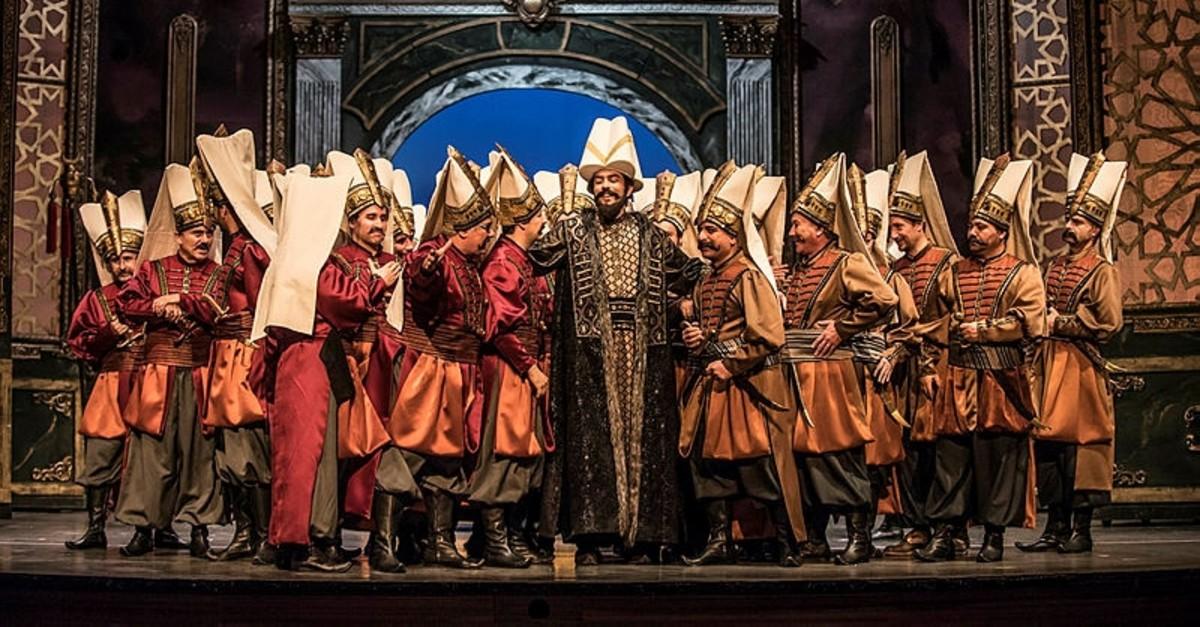 A scene from the Ankara State Opera and Balletu2019s performance of u201cMurat IV.u201d
