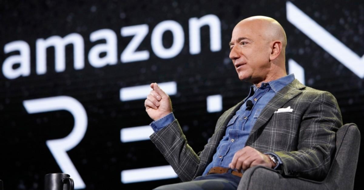 Amazon CEO Jeff Bezos speaks at the the Amazon re:MARS convention, Thursday, June 6, 2019, in Las Vegas. (AP Photo)