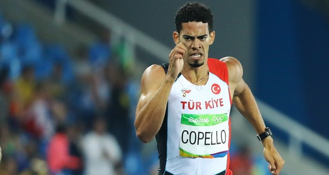 Men's 400m Hurdles Semifinals - Olympic Stadium - Rio de Janeiro, Brazil - 16/08/2016. Yasmani Copello (TUR) of Turkey competes. (REUTERS Photo)