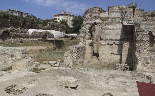 Photo shows the ongoing excavation in the 2,300 year-old site.