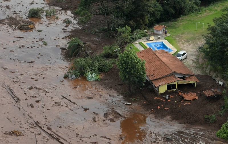 A house is seen in a area next to a dam owned by Brazilian miner Vale SA that burst, in Brumadinho, Brazil January 25, 2019. (REUTERS Photo)