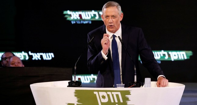 Benny Gantz, a former Israeli armed forces chief and head of Israel Resilience party, delivers his first political speech at the party campaign launch in Tel Aviv, Israel January 29, 2019. (Reuters Photo)