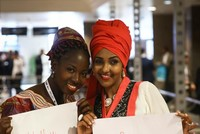 Organized at the Lütfi Kırdar Congress Hall, the Turkish-African Business Forum came to the fore with African women who impressed with their fashionable and colorful clothes.