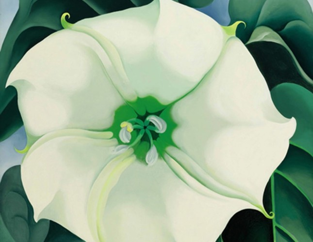 Georgia O'Keeffe's record-setting artwork Jimson Weed / White Flower No. 1 (1932) was sold for $44.4 million in 2014. The artist maintains her place at the top of Artnet's list.