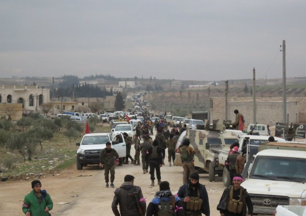The Turkish military-backed Free Syrian Army (FSA), which is carrying out the counterterror offensive against the terrorist groups in Syria, is standing in the western al-Bab region, Feb. 11.