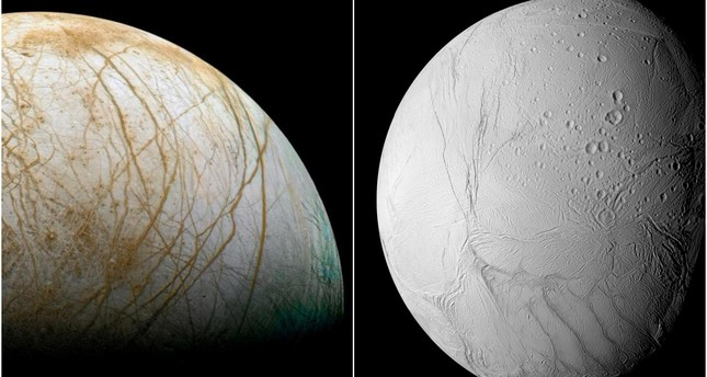 Saturn and Jupiter's icy moons Enceladus and Europa may ...