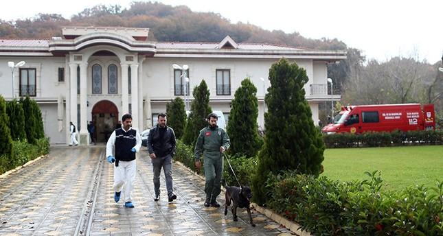 Turkish forensic officers investigate a site at a villa in Yalova province, Turkey, Nov. 26, 2018. EPA Photo