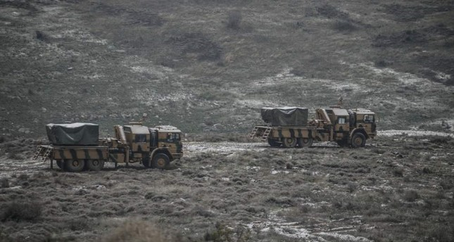 Multiple rocket launchers photographed near the Syrian border in Turkey's southern Hatay province on Feb. 13, 2020 AA Photo