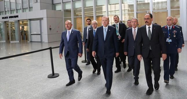 أردوغان يشارك في الجلسة الثالثة لقمة الناتو في بروكسل