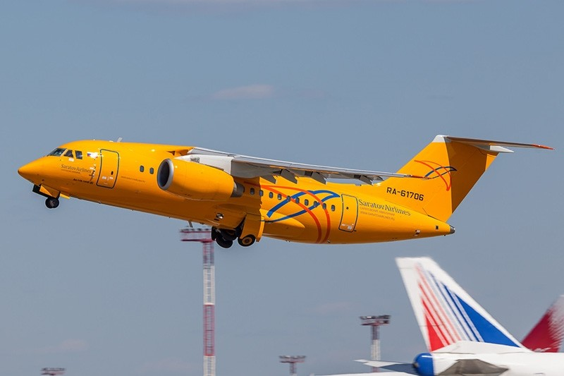 Saratov Airlines An-148 aircraft. (Wikipedia File Photo)