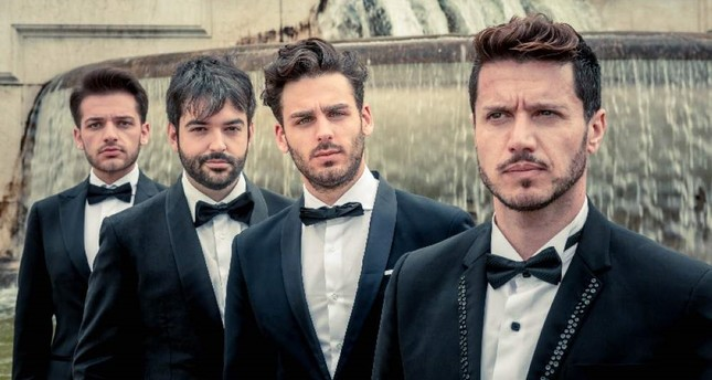 The Four Italian Tenors will accompany the Presidential Symphony Orchestra at the New Year's concert.