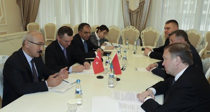 pBelarus is willing to strengthen its economic ties with Turkey, Development Minister Lütfi Elvan said, adding that efforts will be made to remove the obstacles in front of the two countries' firms...