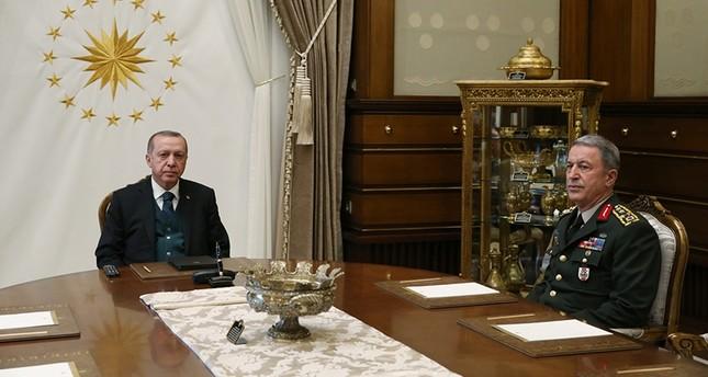 أردوغان يستقبل رئيس أركان الجيش التركي لأول مرة منذ تحرير عفرين