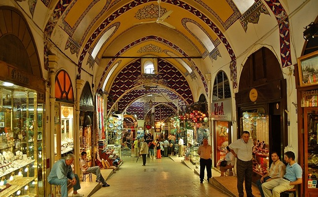 A view of Grand Bazaar, Istanbul, Turkey.