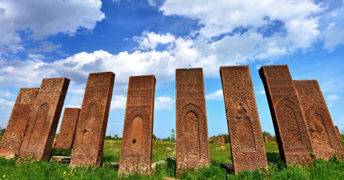 Seljuk-era tombstones in Ahlat, Bitlis.