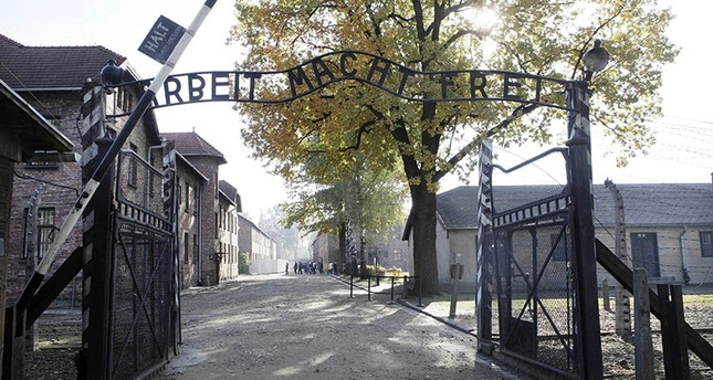 This Oct. 19, 2012 file photo shows the gate of the former Nazi German death camp of Auschwitz in Oswiecim, Poland. AP Photo