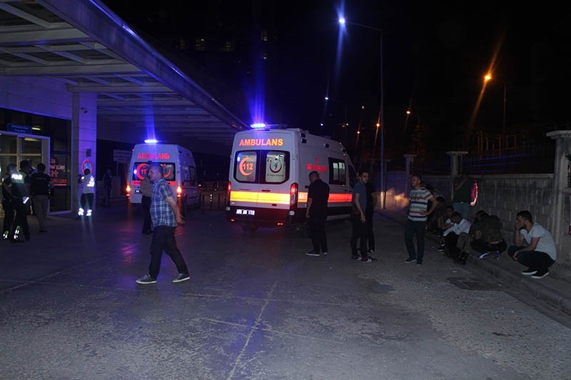Wounded soldiers were brought to the Siirt Public Hospital after a PKK attack in Eruh district. (AA Photo)