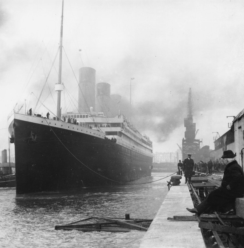 A handout photo made available by the Press Office on the occasion of the presentation of the US exhibition ,Titanic.