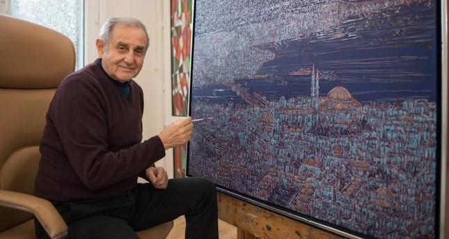 Devrim Erbil is the winner of the painting award. PHOTO BY SAFFET AZAK
