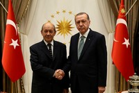 Erdoğan receives French FM Le Drian, expected to discuss Syria, EU affairs