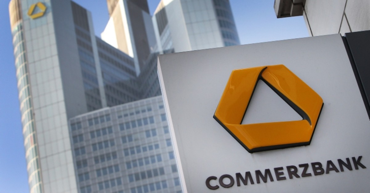 In this file photo taken on February 15, 2017 the Commerzbank Tower is pictured in Frankfurt, western Germany (AFP Photo)