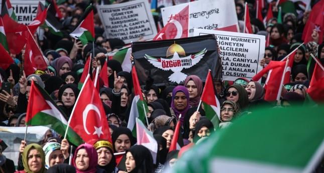 بعنوان كلنا مريم.. مسيرة تضامنية مع نساء فلسطين في إسطنبول التركية