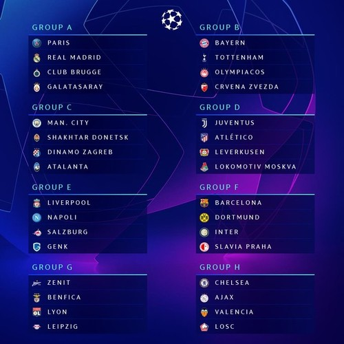 Galatasaray to face PSG, Real Madrid, Club Brugge in