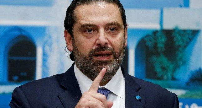 Lebanon's Prime Minister Saad al-Hariri speaks during a news conference after a cabinet session at the Baabda palace, Lebanon October 21, 2019. (REUTERS Photo)