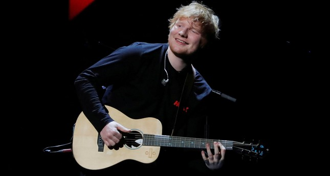 Ed Sheeran performs during the 2017 Jingle Ball at Madison Square Garden in New York, December 8, 2017. (REUTERS Photo)