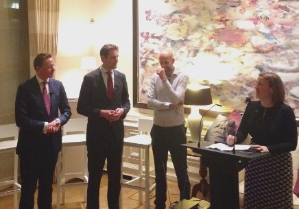 A photo showing the debate released by the Dutch Embassy in London.