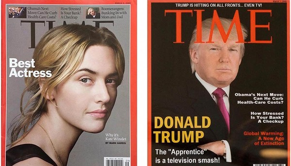 Trump golf resorts hang fake Time magazine cover featuring US president