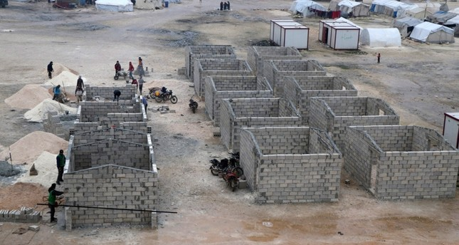 Permanent housing units that will be established by the Sadakataşı Foundation in Syria's Idlib. AA Photo