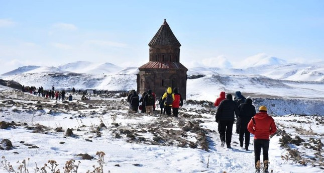 The ambassadors visited Ani, the forgotten city on the Silk Route as part of their trip to Kars. AA Photo
