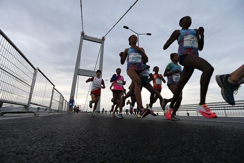 Over 100,000 runners take part in 39th Vodafone Istanbul Marathon