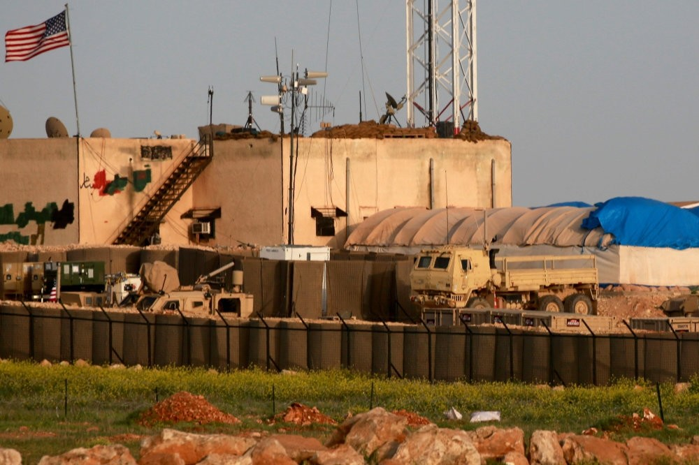 A general view of a U.S. military base in the al-Asaliyah village, located between the Syrian city of Aleppo and the northern town of Manbij, April 2.