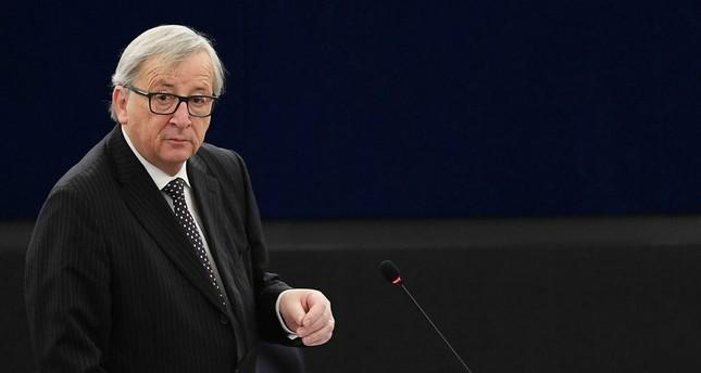 European Commission President Jean-Claude Juncker speaks during a plenary session of European Parliament, Strasbourg, Feb. 6.
