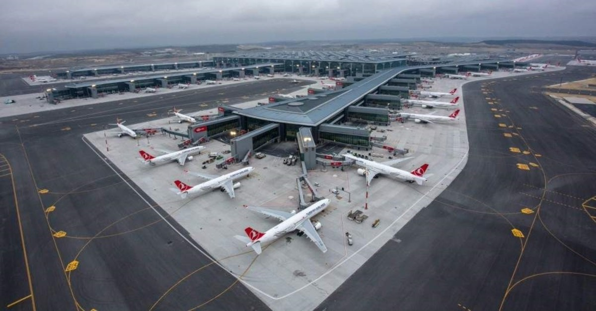 In this undated photo, Turkish Airlines aircraft are seen at Istanbul Airport. (DHA Photo)