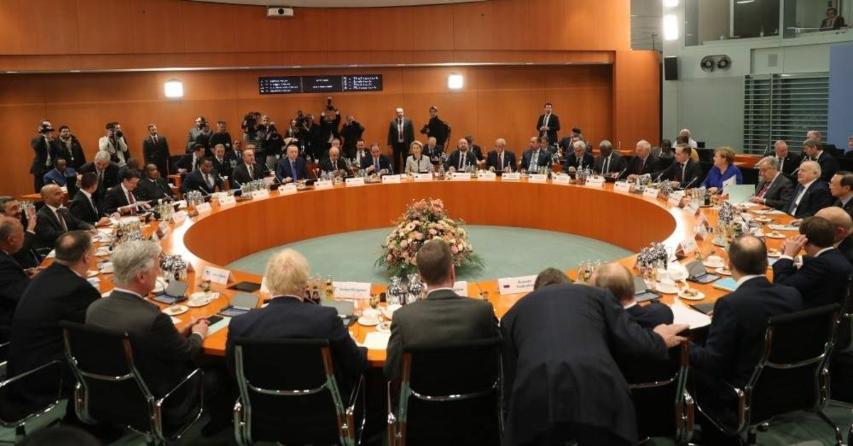 The one-day Berlin summit on a Libyan cease-fire took place in Germany's capital on Jan. 20, 2020. (AA Photo)