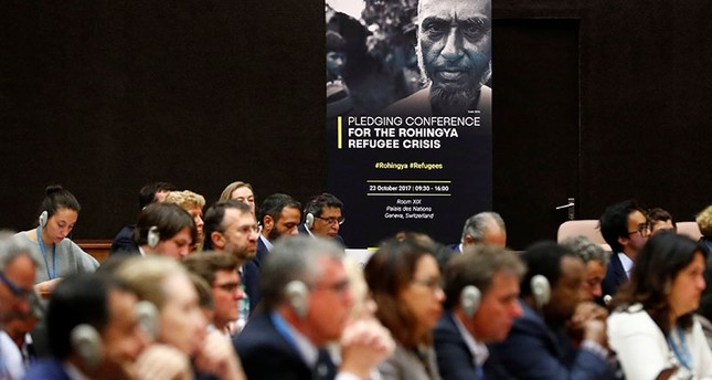 Leaders meet to pledge funds to Rohingya in Bangladesh at United Nations conference in Geneva, Switzerland (Reuters Photo)