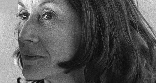 South African writer Nadine Gordimer's portrait by Lütfi Özkok in 1973.