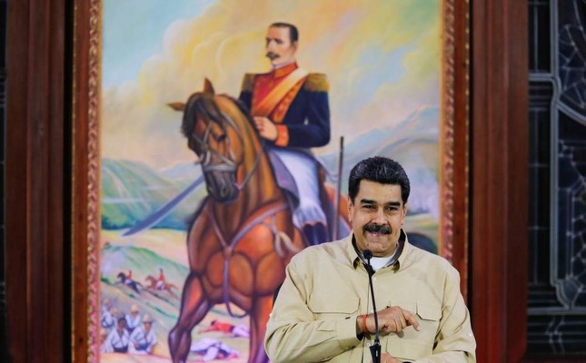 Venezuela's President Nicolas Maduro holds a meeting with state governors at Miraflores Palace, Caracas, Nov. 11, 2019. (AFP Photo)