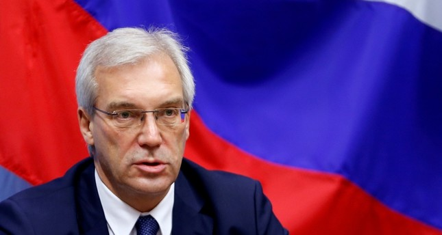 Russian ambassador to NATO Alexander Grushko addresses a news conference after the NATO-Russia Council at the Alliance headquarters in Brussels, Belgium, July 13, 2016 (Reuters Photo)