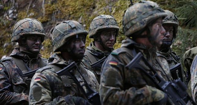 German Bundeswehr army soldiers at Kaserne Hochstaufen (mountain infantry military barracks) in Bad Reichenhall, southern Germany, March 23, 2016. (Reuters Photo)