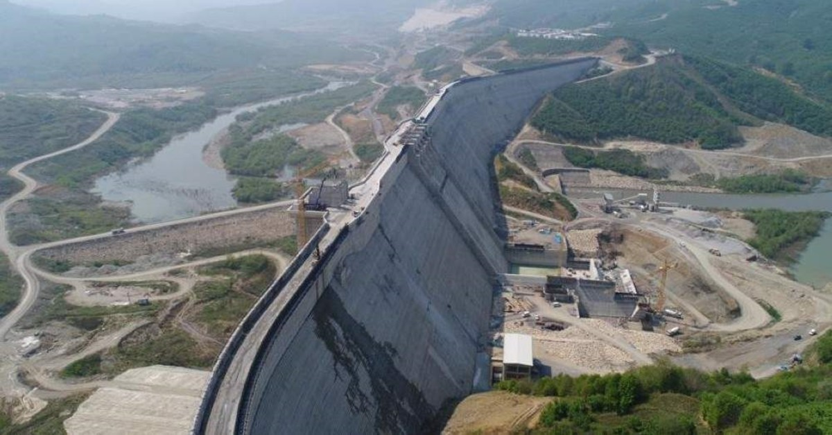 The construction of Melen Dam, Turkey's largest drinking water supply project, which will provide water for Istanbul until 2071, is almost complete. (AA Photo)