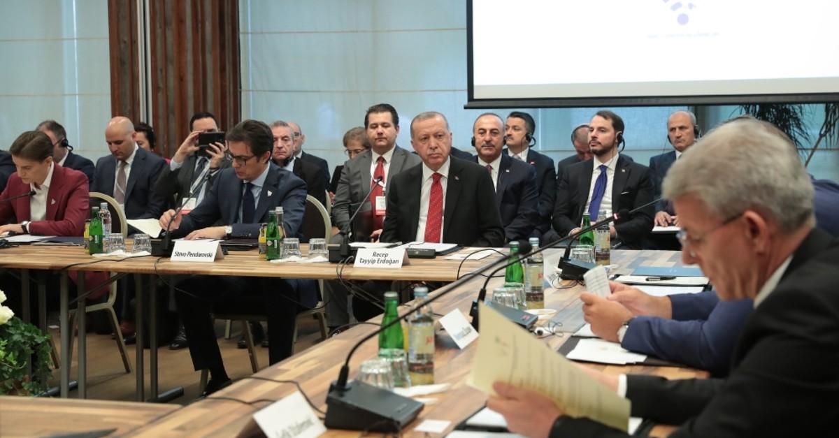 President Recep Tayyip Erdou011fan at the Southeast European Countries Cooperation Process (SEECP) Summit in Sarajevo, Bosnia-Herzegovina, July 9, 2019.