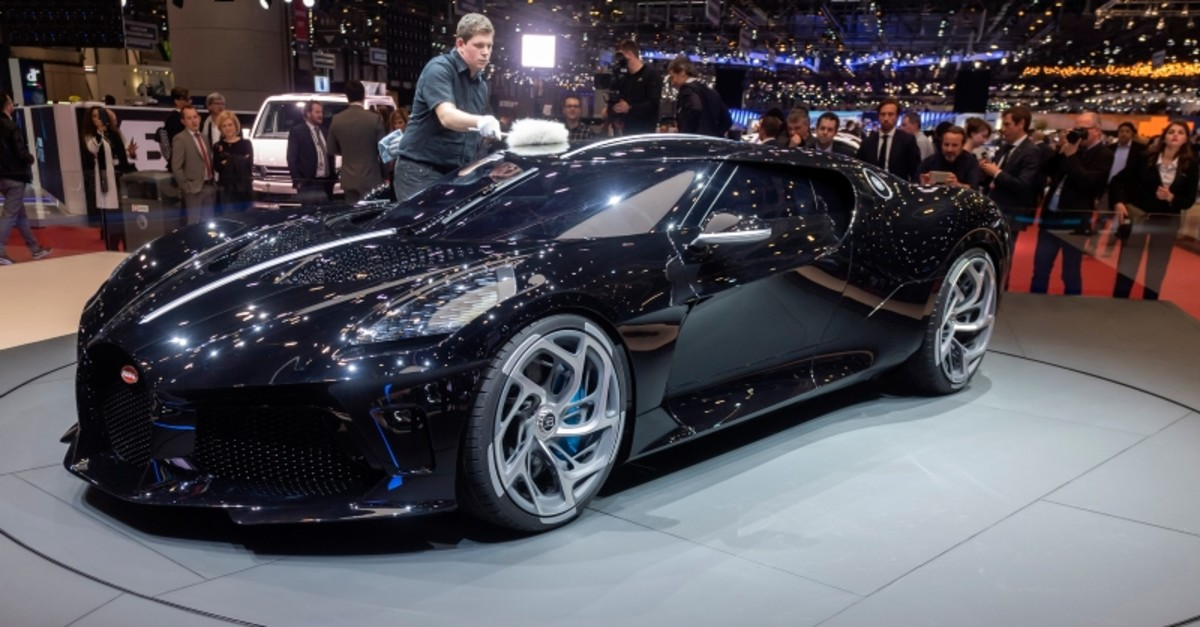 The new Bugatti La Voiture Noire is presented during the first media day at the 89th Geneva International Motor Show in Geneva, Switzerland, 05 March 2019. (EPA Photo)