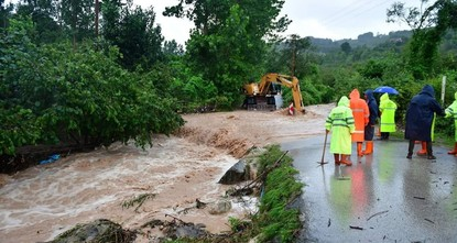 Starke Überschwemmungen in Schwarzmeer-Provinz Ordu