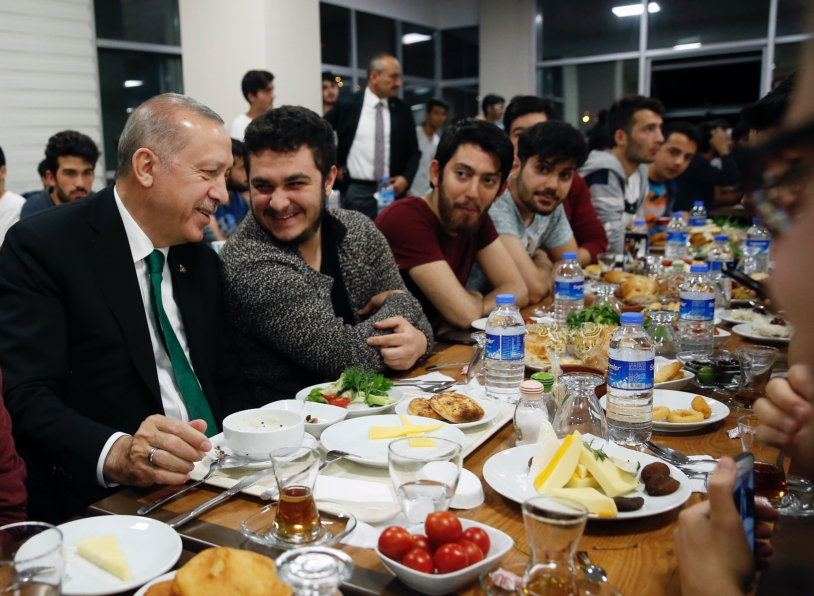President Erdou011fan joined youth for sahur at a student dormitory in Turkeyu2019s capital Ankara, after receiving an invitation through Twitter on June 1.