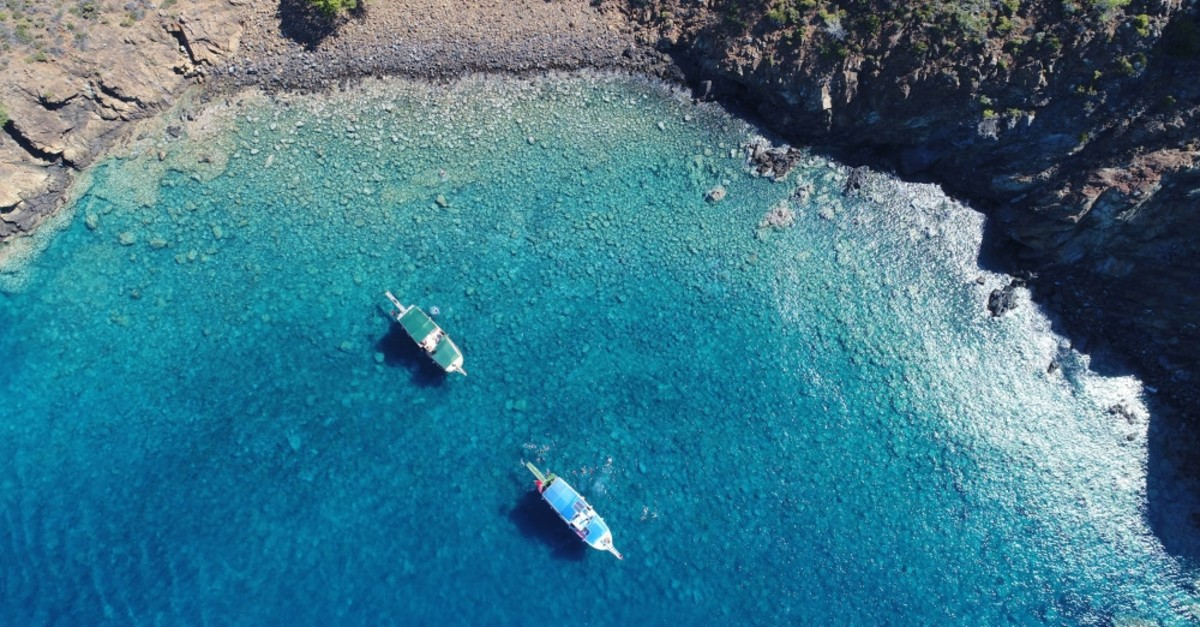 Suluada's turquoise waters are only accessible by boat.