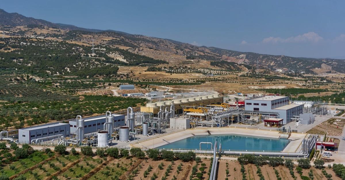 Zorlu Enerjiu2019s Ku0131zu0131ldere III geothermal power plant in the Central Aegean province of Denizli.